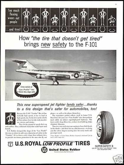 US Air Force F-101 Voodoo Jet US Royal Tires (1960)