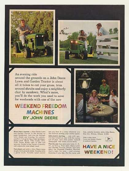 John Deere Lawn and Garden Tractor Photo (1968)