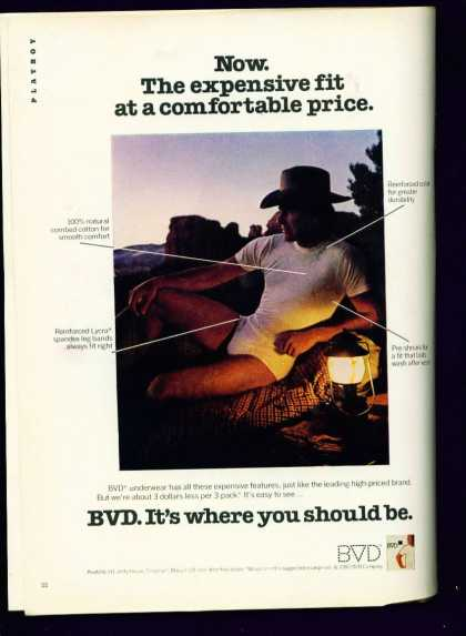 Cowboy In Bvd Underwear Sexy Pose Ad Gay Interest (1982)