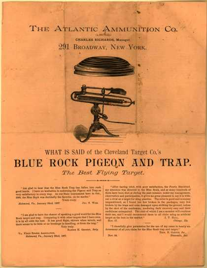 Atlantic Ammunition Co.'s Flying Target – Blue Rock Pigeon and Trap