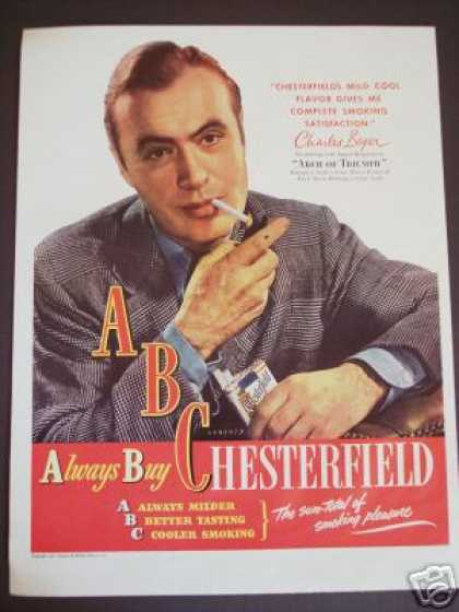 Charles Boyer Movie Arch of Triumph Cigarette (1947)