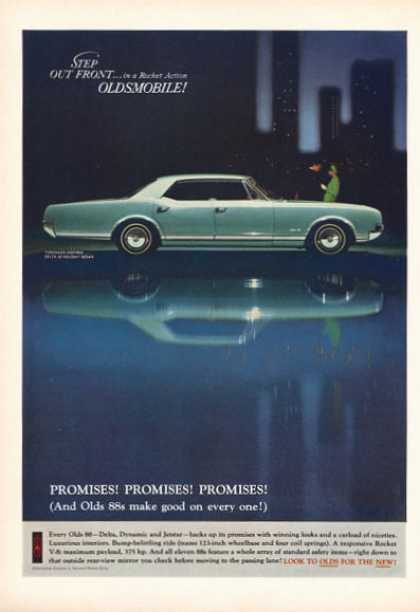 Olds Oldsmobile Delta 88 Holiday Print (1966)
