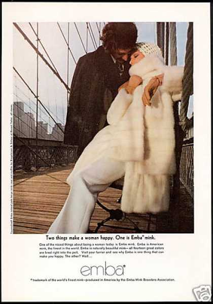 Emba Mink Fur Coat Photo Happy Woman (1969)