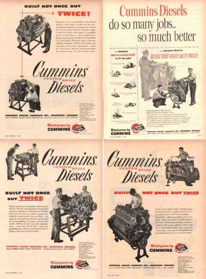 Cummins Engines Ads – Set of 4 – Sold (1951)