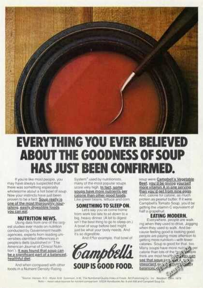 Campbell's Tomato Soup Just Confirmed (1981)