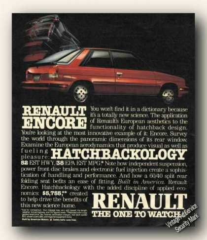Renault Encore Hatchback One To Watch (1984)