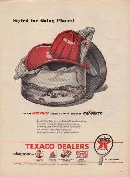 Texaco Fire Chief Gasoline Fire Power (1946)