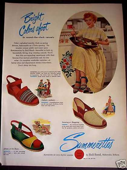 Lucy Lucille Ball Photo Summerettes Shoes (1949)