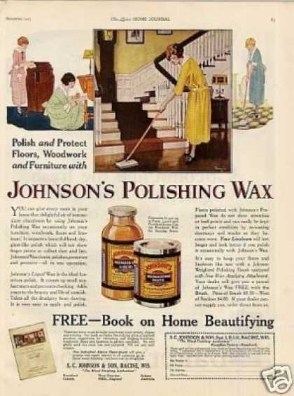 Johnson's Polishing Wax (1923)