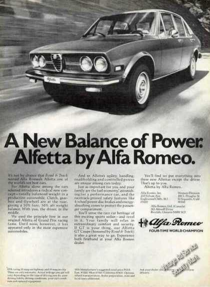 "Alfetta By Alfa Romeo ""New Balance of Power"" (1976)"