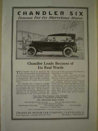 Chandler Six motor car Cleveland Ohio AND Columbia Storage Batteries (1920)