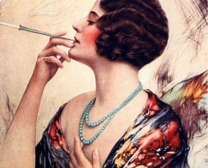 Women Cigarettes Holders Smoking, USA (1920)