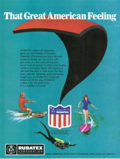 Rubatex Neoprene Surfing Skiing Diving (1972)