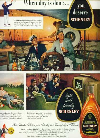 Schenley Reserve Blended Whiskey C Ad Early Tv (1950)