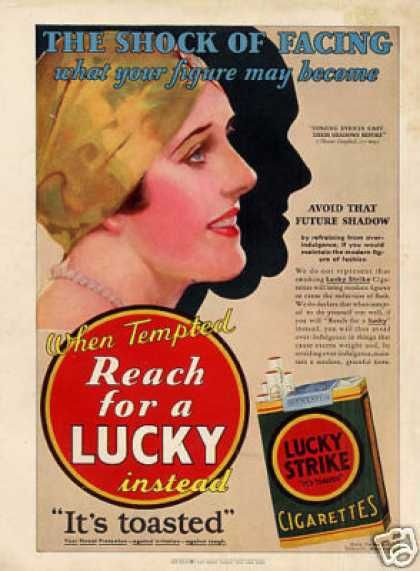 Lucky Strike Cigarettes Color (1930)