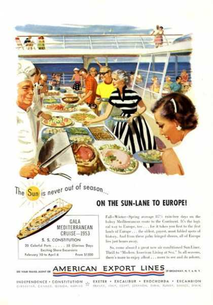 American Export Lines Cruise Ship Eat (1952)