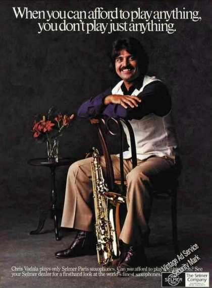 Nice Chris Vadala Photo Selmer Paris Saxophones (1981)