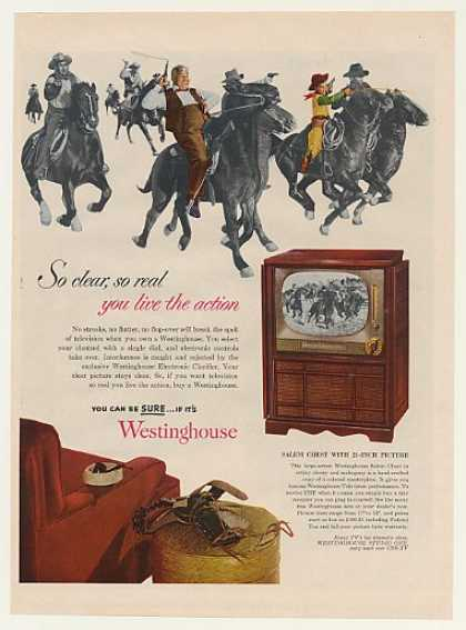 Westinghouse Salem Chest TV Television Cowboys (1952)
