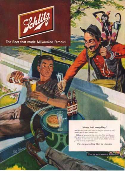 Schlitz Beer Organ Grinder Monkey Bill Flemming (1951)