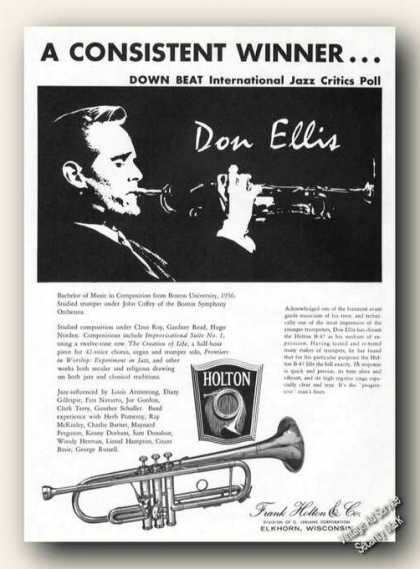 Don Ellis Photo Holton Trumpets Elkhorn Wi Promo (1965)