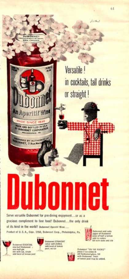 Dubonnet Aperitif Wine Bottle (1950)