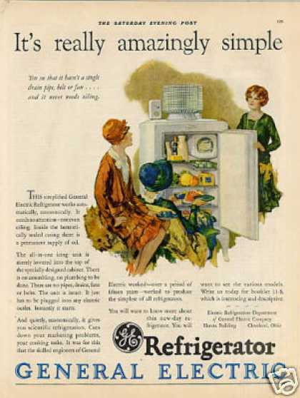 General Electric Refrigerator Color (1927)