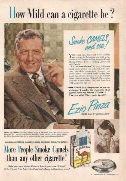 Ezio Pinza Smoke Camel Cigarettes (1950)