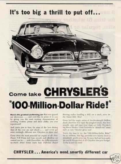 "Chrysler Car Ad ""It's Too Big a Thrill... (1955)"