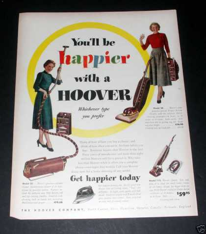 Hoover Vaccum Cleaner, Happier!, Ex (1949)