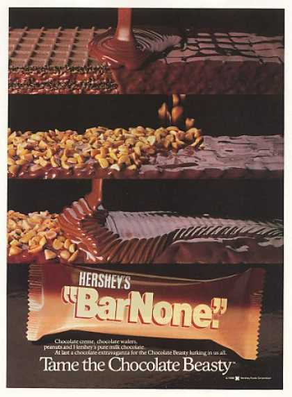 Hershey's Bar None Candy Bar Tame Beasty (1989)
