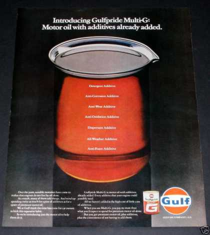 Gulf Gulfpride Multi-g Oil (1970)
