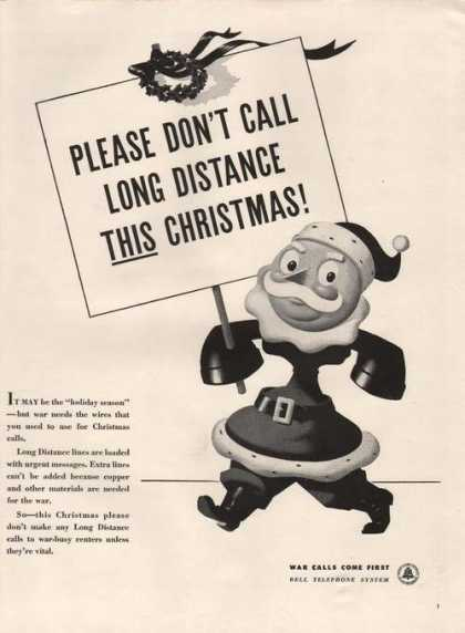 Bell Telephone Santa Clause Cartoon (1942)