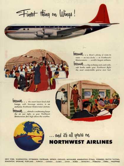 Northwest Airlines – Finest thing on Wings (1952)