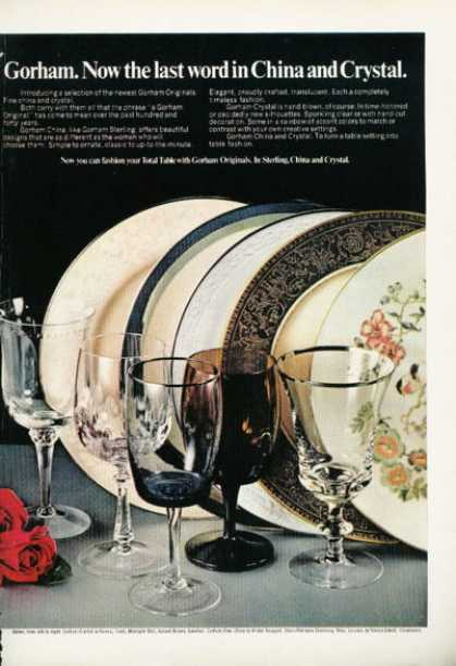 Gorham Originals China Crystal (1972)