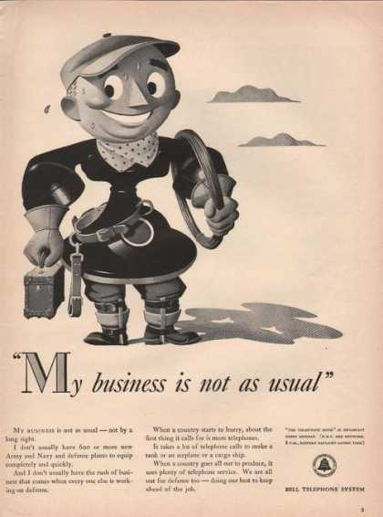 Bell Telephone Business Is Not Usual (1941)
