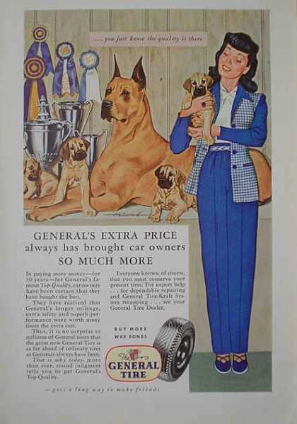 General Tire Prize winning show dog theme (1941)
