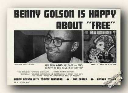 Benny Golson Photo Album Promo Promo (1963)
