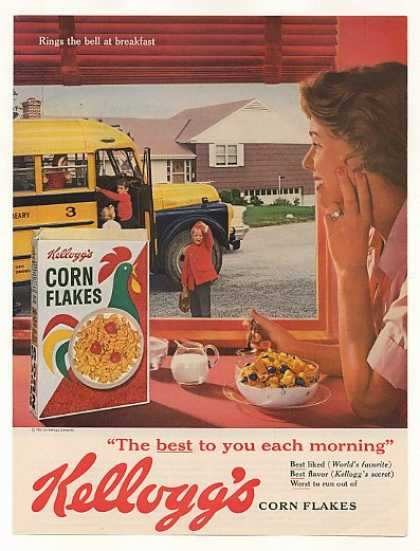 Kellogg's Corn Flakes Mother Kids School Bus (1961)