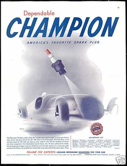 Race Car Art Indy 500 100mph Champion (1947)