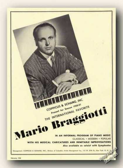 Mario Braggiotti Photo Piano Rare (1950)