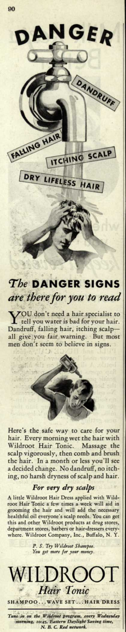 Wildroot Company's Wildroot Hair Tonic – Danger (1931)