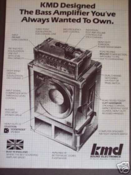 Kmd Bass Guitar Amp Made In England (1986)