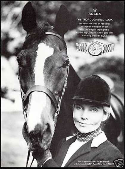 Rolex Datejust Watch Horse Equestrian Photo (1976)