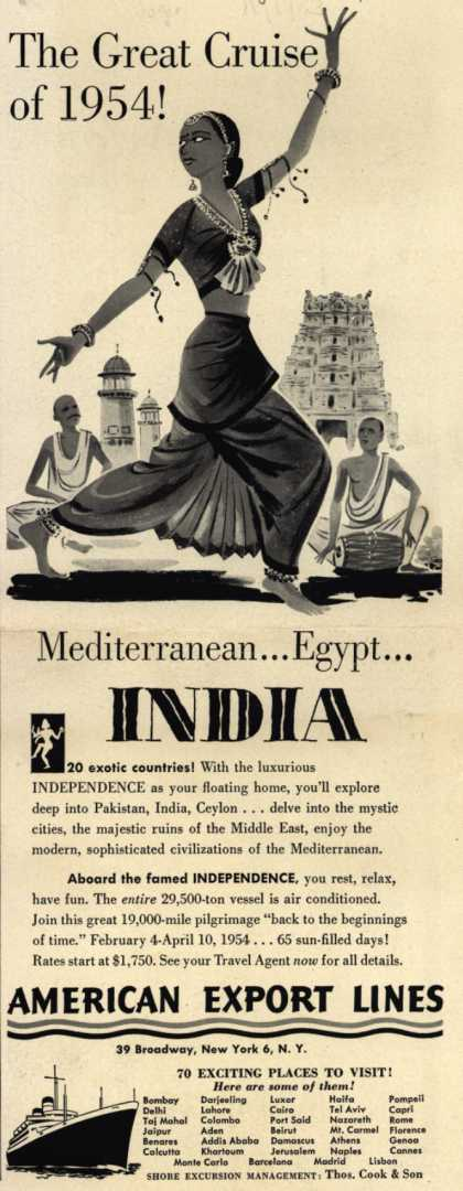 American Export Line's Mediterranean, Egypt, India – The Great Cruise of 1954 (1953)