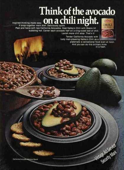 Nailey's Chili With California Avocados (1970)