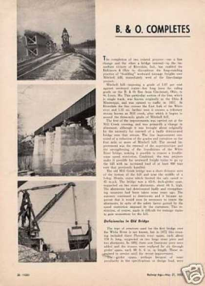 """B&o Completes Bridge Replacement..."" Article (1950)"