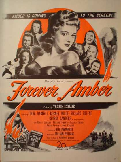 Movie Forever Amber 20th Century Fox (1947)