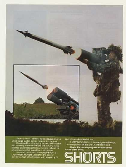 Shorts Javelin Guided Missile Firing Photo (1987)