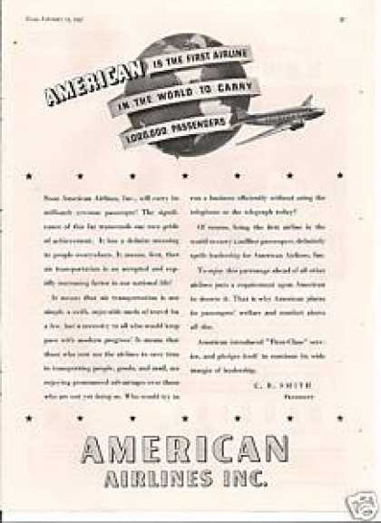 American Airlines To Carry One Million (1937)