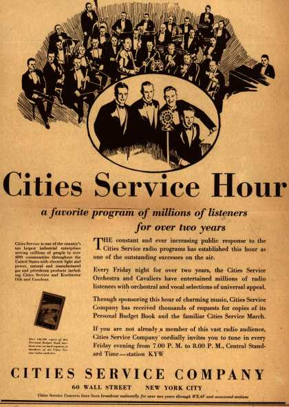 Cities Service Company's Radio Program – Cities Service Hour (1929)